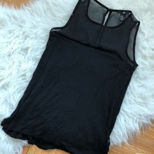 Black H&M Mesh Tank Top